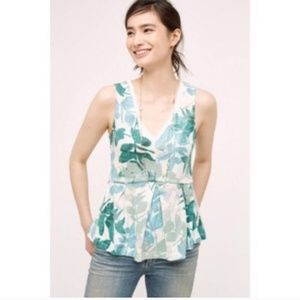 anthro deletta | amelia leaf print cotton tank